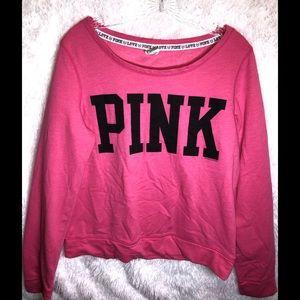 PINK Victoria's Secret Boatneck Sweatshirt